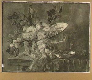Vruchtenstilleven met papegaai