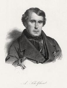 Portret van Andreas Schelfhout (1787-1870)