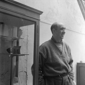 Emmanuel Auricoste in zijn atelier te Parijs