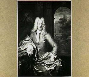 Portret van Mr. Gerrit de Bye (1688-1746), secretaris van de rekenkamer te Leiden; echtgenoot van Susanna Beatrix van Assendelft