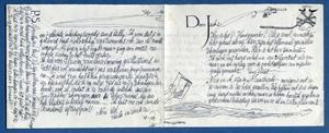 Voorkant brief aan Willem den Ouden in Bretagne