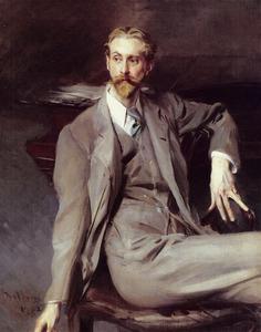 Portret van van de kunstenaar Lawrence Alexander ('Peter') Harrison (1905-1958)