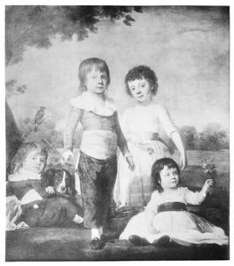 Portret van de kinderen van Sebastiaan Cornelis Nederburgh (1762-1811) en Elisabeth Geertruy Scheltus (1767-1822)