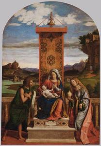 Maria met kind, Johannes de Doper en Maria Magdalena