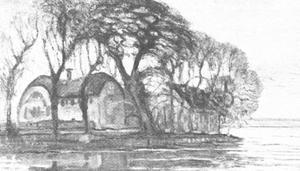 Farm at Duivendrecht, lost painted version
