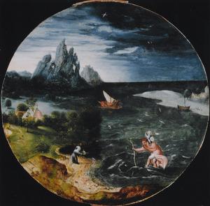 Landschap met de H. Christoforus