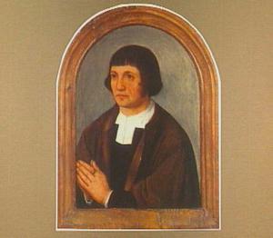 Portret van een man in aanbidding