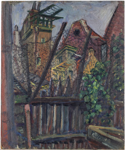 Gezicht op latjes en draad (achterzijde M.J. Kosterstraat 11, Amsterdam)