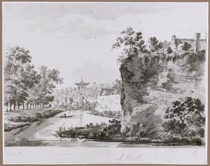 De stadswal van Utrecht met bastion Sterrenburg en de Smeetoren