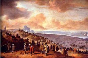 Het vertrek van Karel II, koning van Engeland, uit Scheveningen op 2 juni 1660