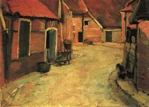 The Lappenbrink, view toward the Nieuwstraat, oil sketch