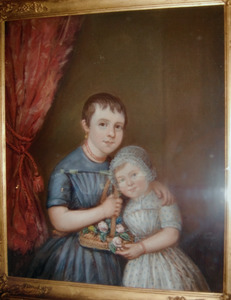 Portret van Wijnanda Kruyt (....-....) en Jannette Kruyt (....-....)