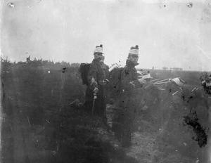 Militairen tijdens een militaire manoeuvre