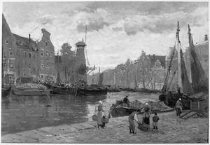 Havenscene in Schiedam