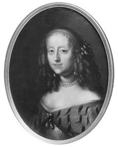 Portret van Sofia Amalia (1628-1685), vrouw van Koning Frederik III van Denemarken