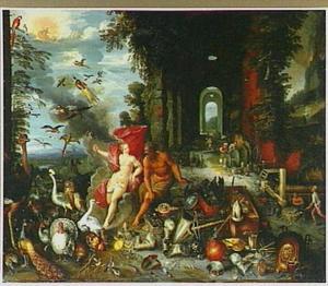 Allegorie van de lucht en het vuur (twee van de vier elementen)