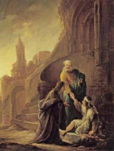 Petrus geneest de lamme bij  de tempelpoort (Handelingen 3-4:31)