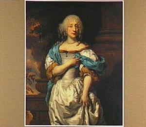 Portret van een vrouw met wit gepoederd haar