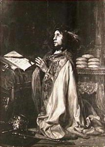Koning David in gebed (2 Samuel 7)