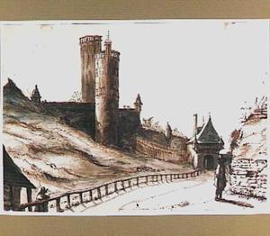 De Belvedère-toren en de Hoenderpoort in Nijmegen