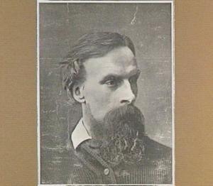 Portret van de kunstenaar Fridolin Becker (1830-1895)