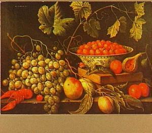 Vruchtenstilleven met kreeft