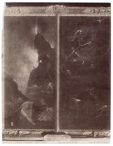 Verdoemden in de hel (links); Val van de verdoemden (rechts)