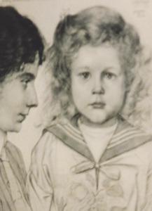 Dubbelportret van Jacqueline Pauline Bernardine Zenobia Maria Vonk de Both (1874-1958) en Marcel Rudolf August Deurvorst (1905-1989)