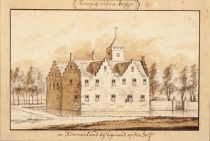 Linker- en achterzijde van huis te Ramp (ook wel Rampenbosch of Rampenburg) bij Bergen