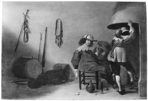 Drie mannen bij een schouw