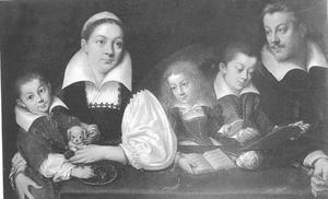 Kunstenaar Joseph Heintz (I) en zijn familie