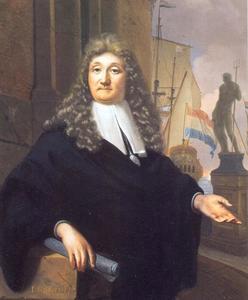 Zelfportret van Ludolf Bakhuizen (1630-1708)