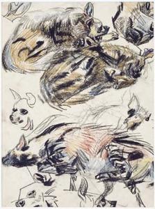 Schetsblad met Hyena's