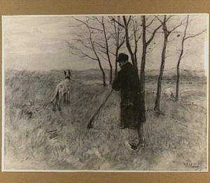 Landschap met herder en hond