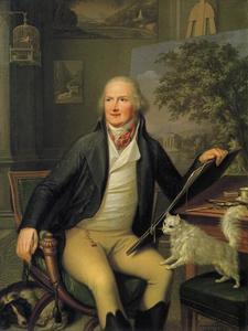 Portret van Jakob Philipp Hackert (1737-1807) in zijn atelier in Napels