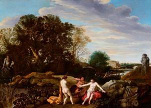 Landschap met Erichtonius en de dochters van Kekrops