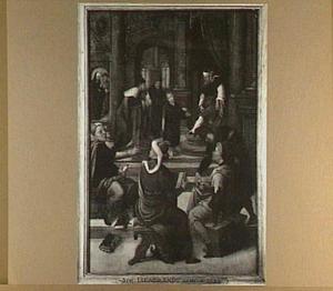 De twaalfjarige Christus en de schriftgeleerden in de tempel (Lucas 2:46-47)