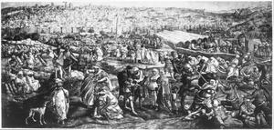 De plundering van Tunis door het leger van Karel V