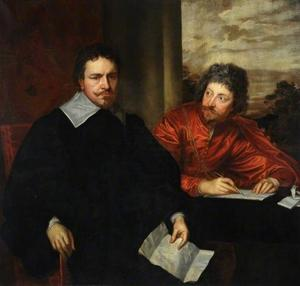 Dubbelportret van Thomas Wentworth, 1st Earl of Strafford (1593-1641) met zijn secretaris Sir Philip Mainwaring (1589-1661)
