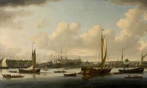 Scheepswerf op het Thames