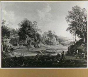 Kluizenaars in een landschap