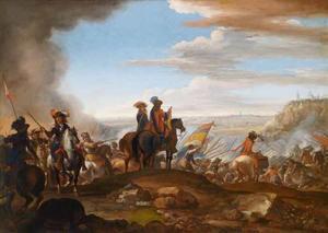 De troepen van Cosimo III van Toscane in gevecht