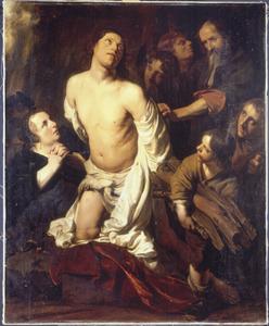 Het martyrium van een heilige (Laurentius?)