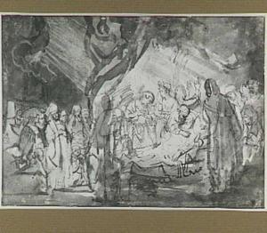 De dood van de aartsvader Jacob (Genesis 49:33)