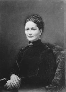 Portret van Anna Frederica Braak, echtgenote van de schilder