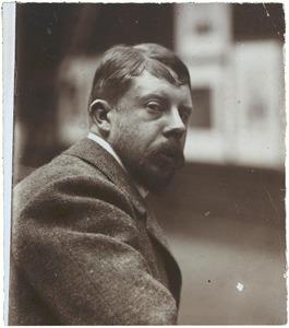 Zelfportret van George Hendrik Breitner (ere-tentoonstelling Arti et Amicitiae, Amsterdam, 1901-1902)