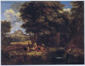 Zuidelijk landschap met etende herders