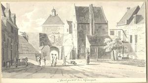 De Molenpoort te Nijmegen vanaf de stadszijde
