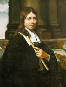 Portret van een man met een fluit
