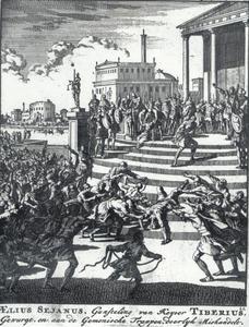 Aelius Sejanus en zijn familie gelyncht te Rome